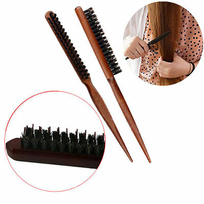 Hair Brush Styling Comb Back Combing Teasing Brushes Pointed Tail Bristle Brush
