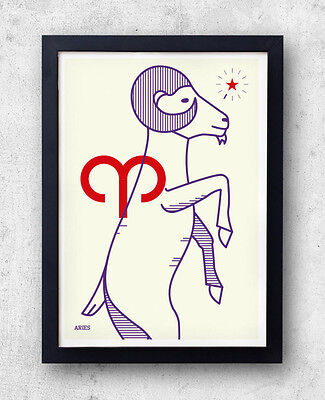 ARIES Print! Signs of the Zodiac, Astrology, Constellation, The Ram, star signs