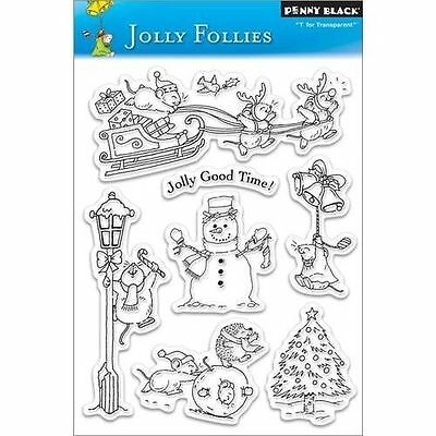 Penny Black - Clear Stamp Set - Jolly Follies - Christmas