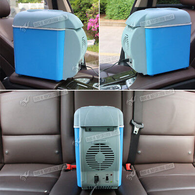 New Car Refrigerator Electric Cool Box Cooler Motor Home Camping Fridge 7.5L12V