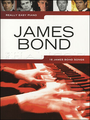 Really Easy Piano James Bond Music Book Goldfinger Skyfall Live And Let Die