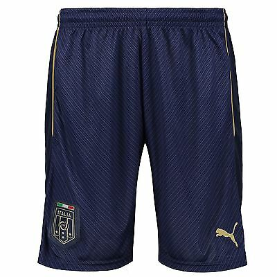 Puma Mens Gents Football Soccer Italy Tribute 2006 Away Shorts Bottoms - Blue