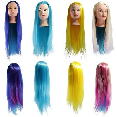"26"" Color Hair Mannequin Salon Hairdressing Styling Training Head Model w/ Clamp"