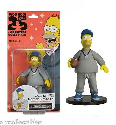 Neca Simpsons Woo Hoo 25 Year Greatest Guest Stars - Coach Homer - Figur - Neu