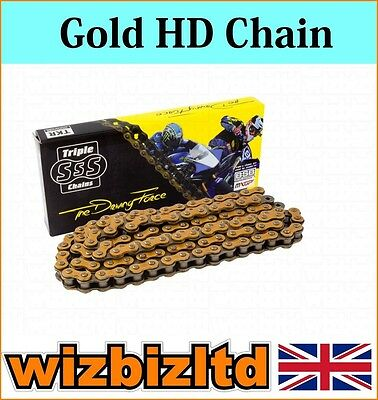 Gold Heavy Duty Motorcycle Chain Yamaha WR125 R-Y,Z,A,B,D,E 2009-14 CHH428134GD