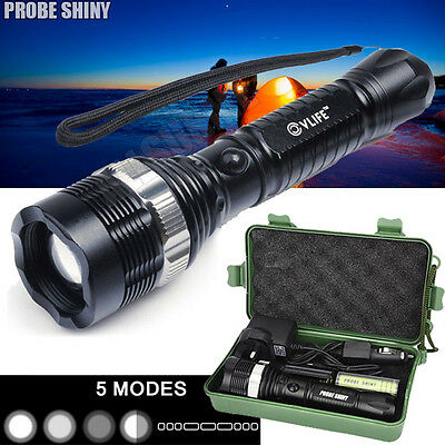 6000LM Zoomable Super  XM-L T6 LED Focus Tactical Flashlight Torch Lamp US