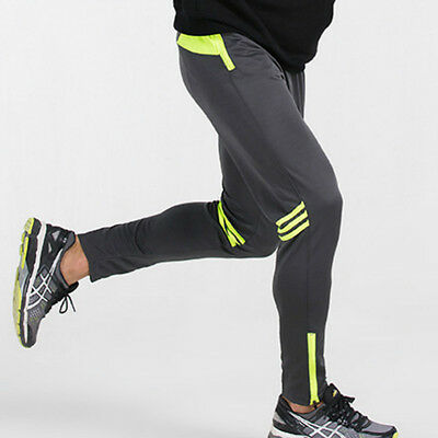 Men Sport Jogger Pants Gym Running Fitness Workout Striped Pocket Trousers M-2XL