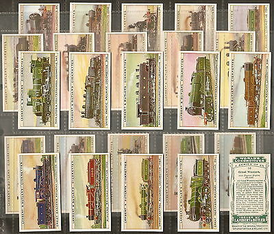Lambert & Butler-Full Set- Worlds Locomotives Series (25) - Exc
