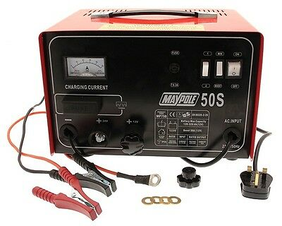 Maypole 750 30A Metal Battery Charger 12/24V New