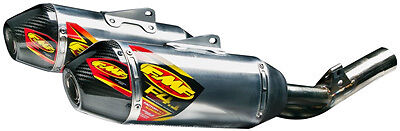 FMF Racing Exhaust Stainless Steel Factory 4.1 RCT Dual S/O Honda CRF250R 041529