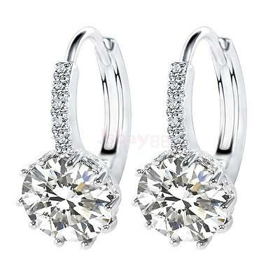 Fashion Women Lady Elegant Crystal Rhinestone Ear Stud Earrings Jewelry