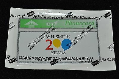Bta 042 W H Smith 200 Years Bicentenary Smaritan Appeal Mint Cond Phonecards