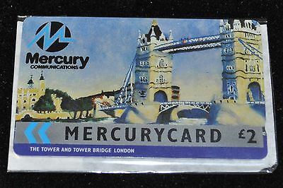 Mercurycard £2 The Tower & Tower Bridge London Phonecard Used