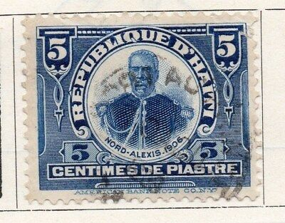 Haiti 1906 Early Issue Fine Used 5c. 099758