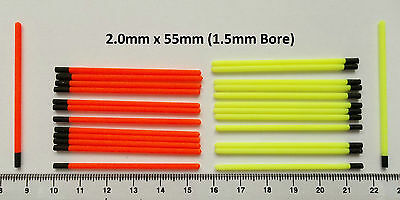 Hollow Tips For Float Making 2.0/1.5 mm Red or Yellow 30 Or 100