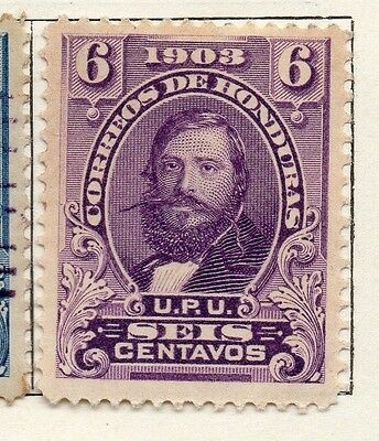 Honduras 1903 Early Issue Fine Mint Hinged 6c. 098808