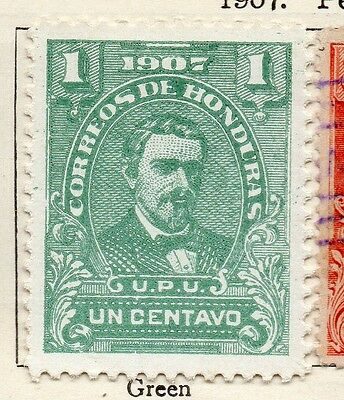 Honduras 1907 Early Issue Fine Mint Hinged 1c. 098812