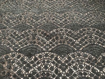 Lace Fabric - Escallope Evergreen - Wool Blend Lace Fabric