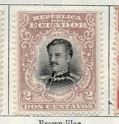 Ecuador 1899 Early Issue Fine Mint Hinged 2c. 099208