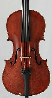 Nice old antique 4/4 Violin labeled Amati  One piece back  Vintage German
