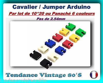 *** Lot De 10*20 Ou Panache De 6 Couleurs Cavaliers - Jumpers / Pas De 2.54M ***