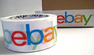 eBay Branded BOPP Packaging Shipping Tape 75 Yards Per Roll Large Print