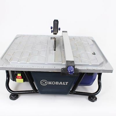 Kobalt 7-in Wet Tabletop Tile Saw Rip Ceramic Porcelain Glass KB7004 Wetsaw