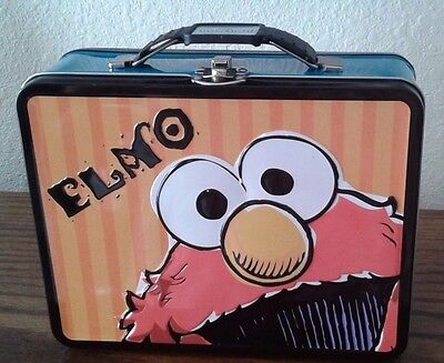 Lunch Box - Sesame Street - Elmo Metal Tin Carry-All Style 647627