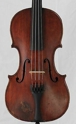 Nice old antique 4/4 Violin Joseph Guarnerius Two Piece Back 355mm