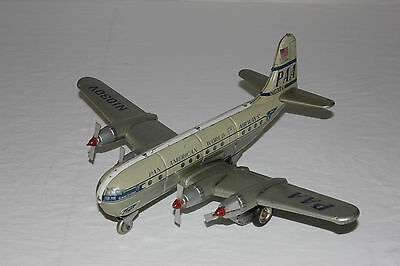Rare Alps Japan Tin Friction PAA Pan American Strato Clipper Airplane EX+ L@@K