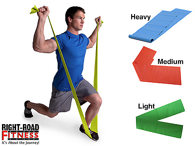 Pilates Fitness Exercise Workout Resistance Band Physio Bands 1.2M LIGHT STRETCH