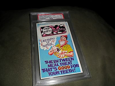 RARE 1969 Good and Empty Topps Wacky Pack Ads Packages #25 PSA 6  EX to MINT