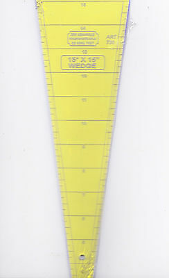 "15 degree wedge ruler 15"" - for patchwork, crafting - use with rotary cutter"