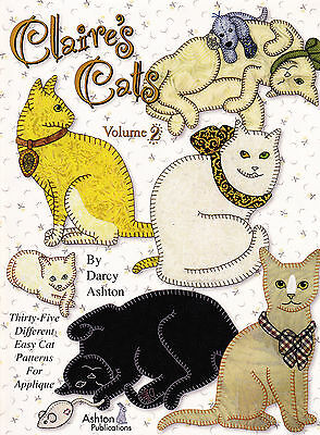 Claire's Cats Volume 2 - fabulous applique book - Ashton