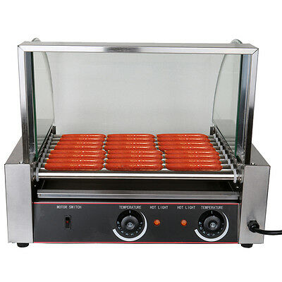 1260W Commercial 9-Roller Grilling Machine 24 Hot Dogs Per Batch 8 Rows of 3
