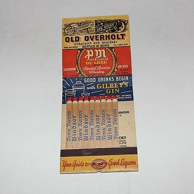 Windsor Whiskey Big Feature Matchbook Cover