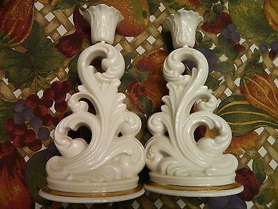 "Pair Of Lenox Candle Sticks - 7.75""h"