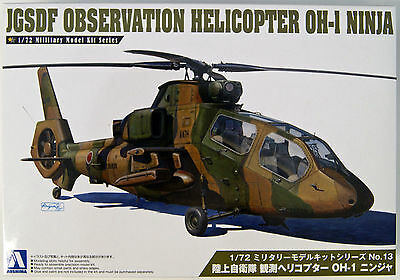 Aoshima 14349 JGSDF Observation Helicopter OH-1 NINJA 1/72 scale kit