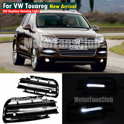 LED Daytime Running Light Fog Lamp DRL For VW Volkswagen Touareg 11-14 New