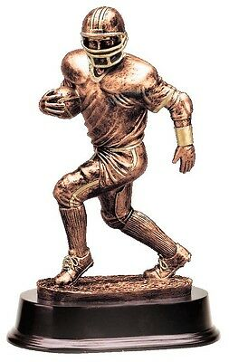 FANTASY FOOTBALL INDIVIDUAL RESIN SCULPTURE TROPHY WITH COLOR FFL LOGO m-rf2325b
