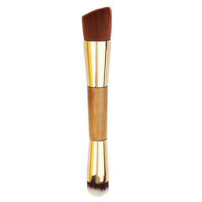 Bamboo Cosmetic Contour Brush Powder Foundation Double Ended Makeup Brush