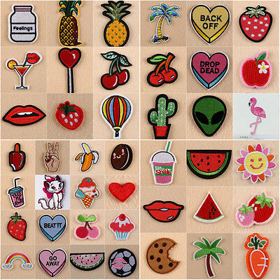 Embroidered Patches Finishes Iron On Badge Hat Bag Fabric Applique Sewing Crafts