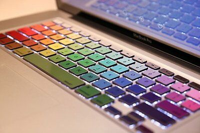 Rainbow Art Vinyl Decal Sticker Skin Protector for Macbook Keyboard Pro 13 15 17