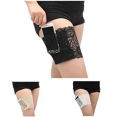 Women Lace Pocket Elastic Anti-Chafing Thigh Bands Prevent Thigh Chafing Sock PK
