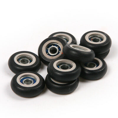 10pcs POM/Rubber Coated Pulley Tire Wheel Arc R Type Ball Bearing