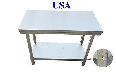 Stainless Steel Work Table Commercial Kitchen Restaurant
