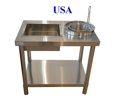 Stainless Steel Fried Work Table Commercial Kitchen New