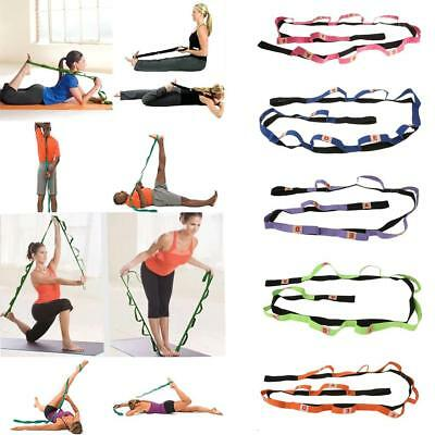 5FT/6FT Yoga Stretch Cotton Strap Loop Belt Figure Waist Leg Fitness Exercise