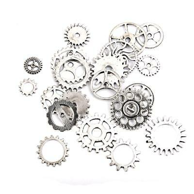 20pcs Silver Watch Parts Charms Beads Findings Jewellery Mix Making Crafts