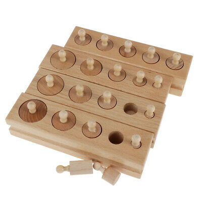 Set of Wooden Montessori Sensorial Material Kids Childrens Early Educational Toy